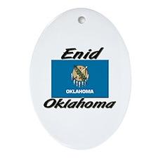 Enid Oklahoma Oval Ornament