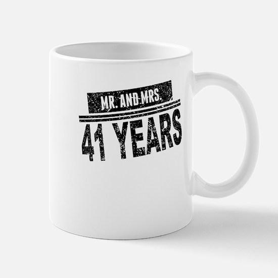 Mr. And Mrs. 41 Years Mugs