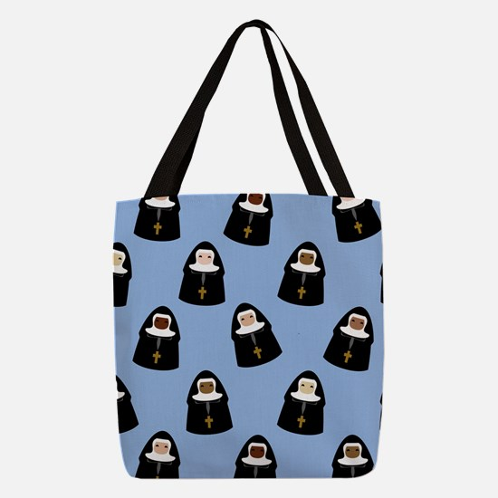 nuns-cute_9x12.png Polyester Tote Bag