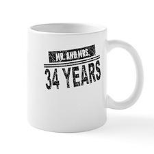 Mr. And Mrs. 34 Years Mugs