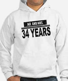 Mr. And Mrs. 34 Years Hoodie