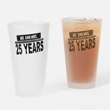 Mr. And Mrs. 25 Years Drinking Glass