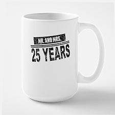 Mr. And Mrs. 25 Years Mugs