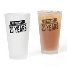 Mr. And Mrs. 20 Years Drinking Glass