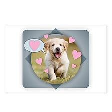 Cute Goldens retriever Postcards (Package of 8)