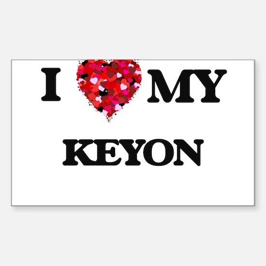 I love my Keyon Decal
