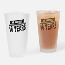 Mr. And Mrs. 16 Years Drinking Glass