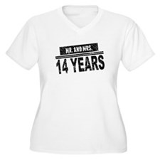 Mr. And Mrs. 14 Years Plus Size T-Shirt