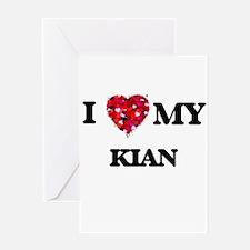 I love my Kian Greeting Cards