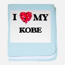 I love my Kobe baby blanket