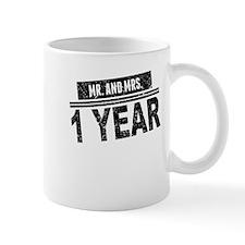 Mr. And Mrs. 1 Year Mugs