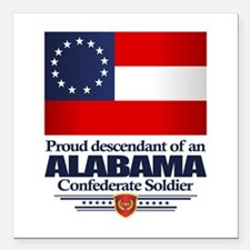 "AL Proud Descendant Square Car Magnet 3"" x 3"""