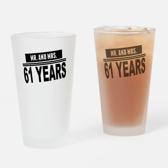 Mr. And Mrs. 61 Years Drinking Glass