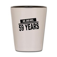 Mr. And Mrs. 59 Years Shot Glass