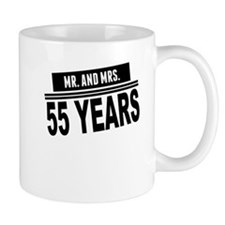 Mr. And Mrs. 55 Years Mugs