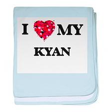 I love my Kyan baby blanket