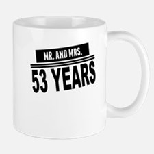 Mr. And Mrs. 53 Years Mugs