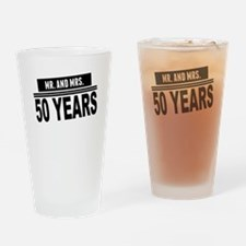 Mr. And Mrs. 50 Years Drinking Glass