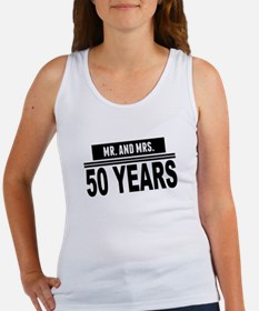 Mr. And Mrs. 50 Years Tank Top