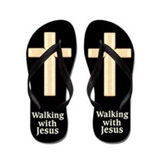 Saved By Jesus Flip Flops