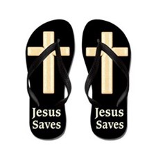 Jesus Saves Flip Flops