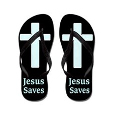 Jesus Saved Me Flip Flops