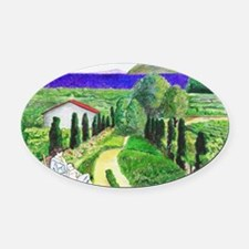 Cute Camille Oval Car Magnet