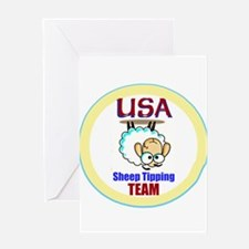 USA Sheep Tippers Greeting Cards