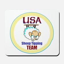 USA Sheep Tippers Mousepad
