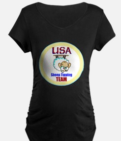 USA Sheep Tippers Maternity T-Shirt