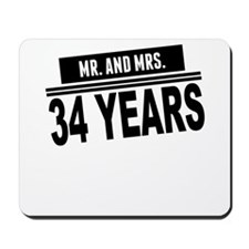 Mr. And Mrs. 34 Years Mousepad