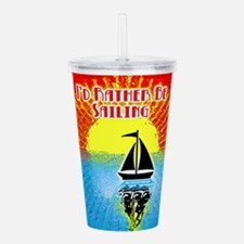 ID RATHER BE SAILING Acrylic Double-wall Tumbler