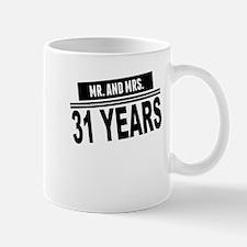 Mr. And Mrs. 31 Years Mugs