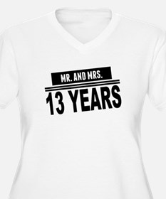 Mr. And Mrs. 13 Years Plus Size T-Shirt