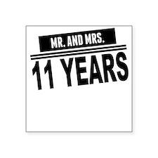 Mr. And Mrs. 11 Years Sticker
