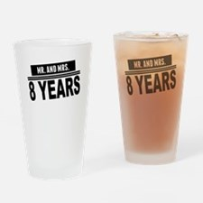 Mr. And Mrs. 8 Years Drinking Glass