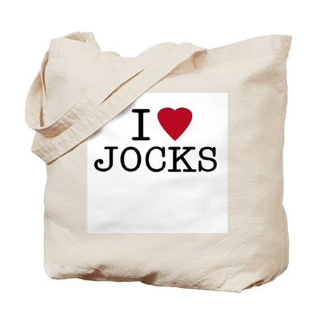 I Heart Jocks Tote Bag