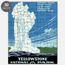 Ranger Naturalist Service Yellowstone Vinta Puzzle