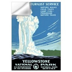 Ranger Naturalist Service Yellowstone Vintage Post Wall Decal