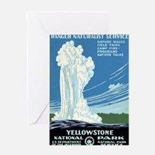 Ranger Naturalist Service Yellowston Greeting Card