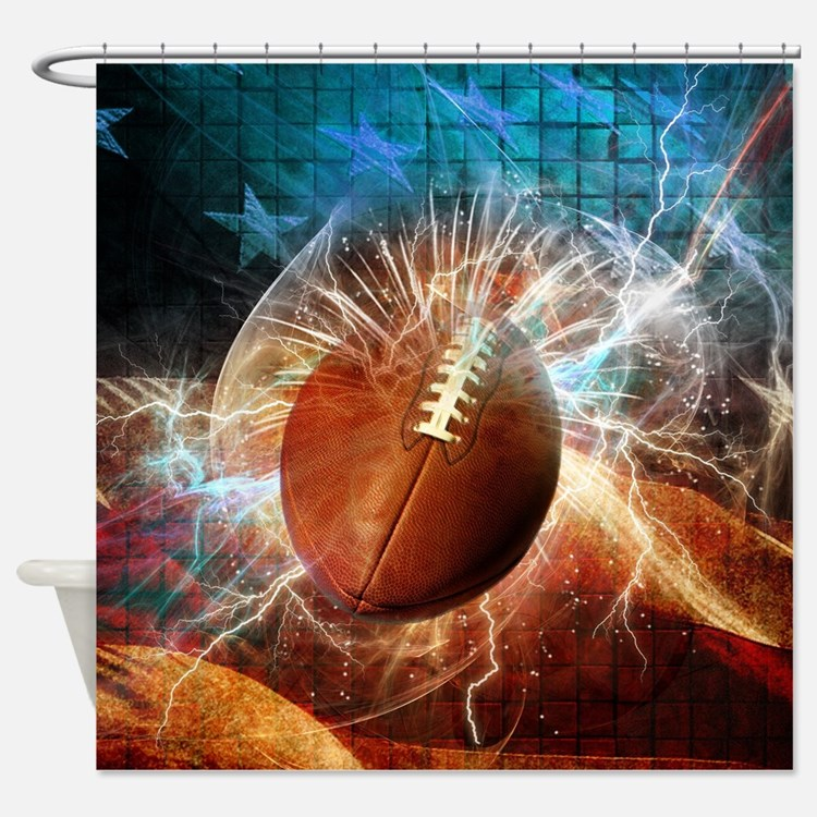 Cute Sports Shower Curtain