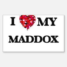I love my Maddox Decal