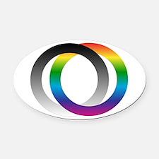 Full Spectrum Oval Car Magnet