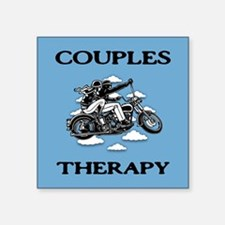 "Couples Therapy Square Sticker 3"" x 3"""