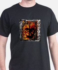 Dark Burning Skull - T-Shirt