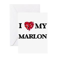 I love my Marlon Greeting Cards