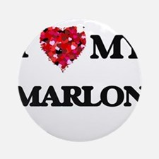 I love my Marlon Ornament (Round)