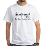 Tibetan buddhism Mens White T-shirts