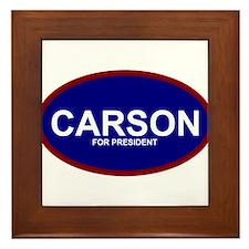 Ben Carson President 2016 Framed Tile