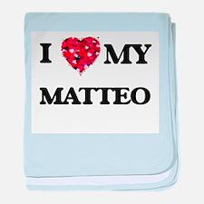 I love my Matteo baby blanket